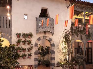 Gorgeous common courtyard